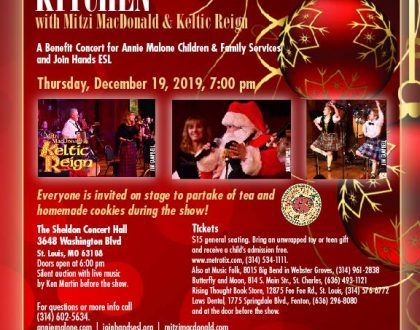 15th Annual Christmas in the Kitchen Benefit Concert on Dec. 19